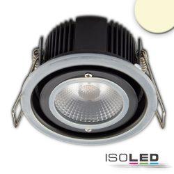 LED süllyesztett szpotlámpa, 10W, IP65, melegfehér, Push vagy Dali-dimmelhető (fedél nélkül) Isoled