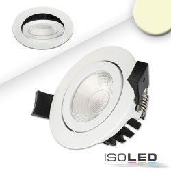LED süllyesztett szpotlámpa, fehér, 8W, 36°, kerek, meleg fehér, IP65, dimmelhető Isoled