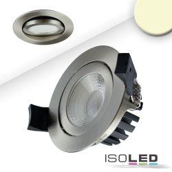 LED süllyesztett szpotlámpa, ezüst, 8W, 36°, kerek, meleg fehér, IP65, dimmelhető