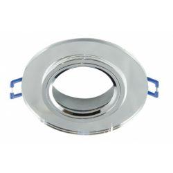 Strühm Selena kör alakú spot keret átlátszó/króm, GU10/MR16-os foglalattal