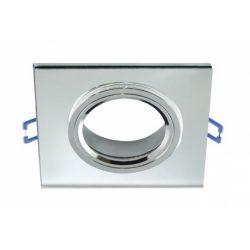 Strühm Selena négyzet alakú spot keret átlátszó/króm, GU10/MR16-os foglalattal