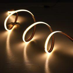 10W COB 4000K természetes fehér LED szalag folytonos, homogén fénnyel 12V 400LED/m Ledfutar