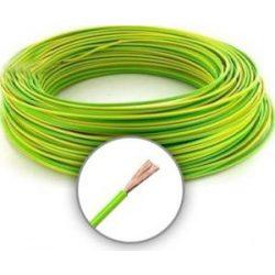 MKH 6mm2 sodrott erezetű réz vezeték zöld-sárga/fekete/kék