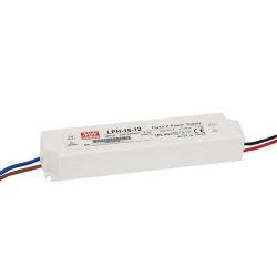 Mean Well   18W  LPH-18-12  IP67 vízvédett 18W-12V  LED tápegység