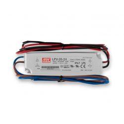 Mean Well  20W  LPV-20-24 IP67 vízvédett 24VDC  LED tápegység