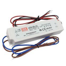 Mean Well   35W  LPV-35-12 IP67 vízvédett 35W-12V  LED tápegység