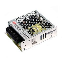 50W LRS-50-12 IP20 fémházas LED tápegység Mean Well