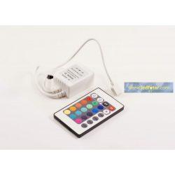 RGB LED vezérlő SL-IR24 72W/12V IR (infravörös) 24 gombos távirányítóval Slightled