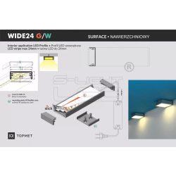 """LED profil fedél """"G"""" fedél WIDE24 Aluminium Topmet"""