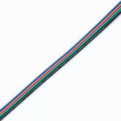 Vezeték RGB 4-eres színes 4x0.35mm2 RGB LED szalag szereléshez Slightled