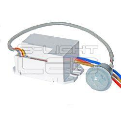 Miniatűr beépíthető mozgásérzékelő bekapcsolható alkony funkcióval 100° látószög 8 méter érzékelési távolság LXM150 SL