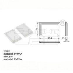 LED profil VARIO E9 fedél végzáró fehér Topmet