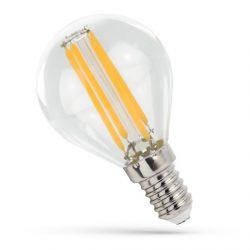 4W E14 meleg fehér filament LED gömb Spectrum