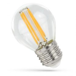 4W E27 meleg fehér filament LED gömb Spectrum