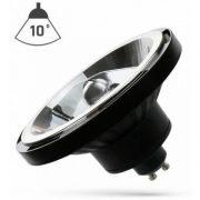 15W GU10 AR111 LED fényforrás természetes fehér 230V 10° fekete SpectrumLED