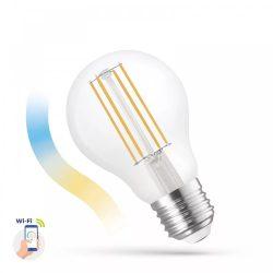LED A60 E27 230V 5W COG üveg CCT+DIM WIFI SPECTRUM