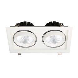 2x30W 3000K meleg fehér süllyesztett LED lámpa S 20D Tungsram