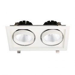 2x30W 4000K természetes fehér süllyesztett LED lámpa S 20D Tungsram
