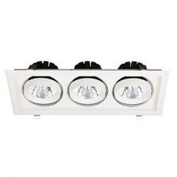 3x30W 3000K meleg fehér süllyesztett LED lámpa S 15D Tungsram
